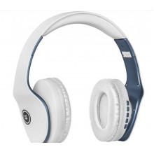 Наушники Defender Free Motion B525 white/blue +  bluetooth, микрофон
