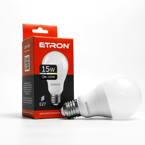Лампа Etron Light Power LED 1-ELP-004 A65 15Вт 4200K E27 (10)