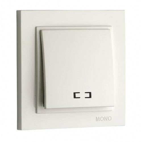Выключатель Mono Electric, Despina 1 клапан, подсветка белый №102-190025-101