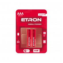 Батарейки Etron Mega Power LR-03 / блистер 2 шт (12) (120)