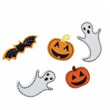 "Набор декоративных наклеек из фетра для Хэллоуина ""Yes"" 16 шт №973273 (6) №2"