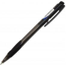 Ручка автоматическая шариковая Digno Comfy тонированная черная (50)