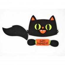 """Набор стикеров для Хэллоуина """"Yes! Fun"""" Черный кот №973530"""