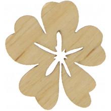 Цветок Барвинок 3х3 см фанера (10)