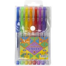 Набір ручок гелевих Умка 8 кольорів Glitter (12) (144) ГР45