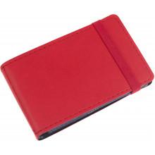 Візитниця на 20 візиток Optima Vivella кишенькова на резинці червона O51615-03