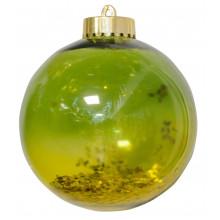 Шар 10 см зеленый с блестками (1) (6) (48) №972912 / Новогодько /