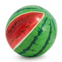 Мяч пляжный Арбуз 107 см, блеск, ремкомплект, в коробке (12) №58075