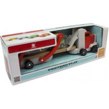 Дерев'яна іграшка Cubika Автовоз вантажівка №120327
