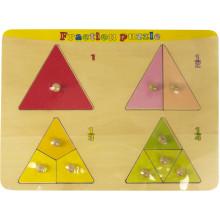 Дерев'яна рамка-вкладка Трикутник дроби HJ98304