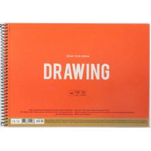 Альбом для малювання на пружині 30 аркушів A4 Muse Школярик крафт-картон (36) №PB-SC-030-300