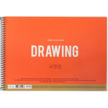 Альбом для рисования на пружине 30 листов A4 Muse Школярик крафт-картон (36) №PB-SC-030-300