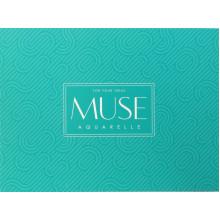 Альбом для акварели склейка 15 листов A5+ Muse Aquarelle Школярик (88) №PB-GB-015-038