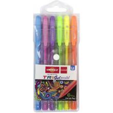 Набор ручек гелевых Unimax Trigel Pastel 6 цветов, ассорти (10) (100) №UX-144/43275