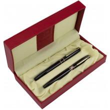 Набор ручек капиллярная + чернильная Picasso DUO в подарочной упаковке корпус черный с золотом №966