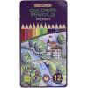 Олівці кольорові 12 кольорів Premium шестигранні в металевій в коробці (12) CF15172