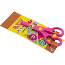 Ножницы детские Умка 13,3 см пластиковые безопасные розовые (24) НЦ405-12