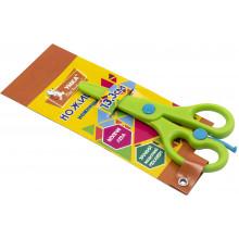 Ножницы детские Умка 13,3 см пластиковые, безопасные, зеленые (24) №НЦ405-04
