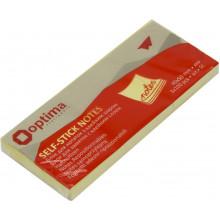 Блок для заміток з липким шаром 40х50мм Optima жовтий 3 блоки 100 аркушів (12) O25501