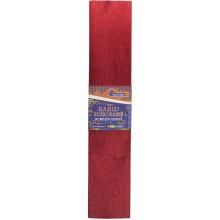 Папір гофра 2мх50 см 30% 60г/м2, 78г/м2 металік червоний (10) (200) KRM-8062