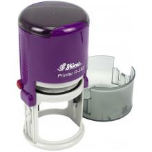 Оснастка автоматическая для круглой печати пластиковая d42мм Shiny корпус фиолетовый №R-542