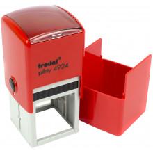 Оснастка для круглої печатки пластикова d40мм Trodat 4940/4924 корпус червоний із пластиковим футляром-ковпачком