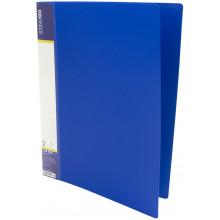 Папка-усы Economix CLIP A Light A4 пластиковая с 1 карманом синяя (1) (20) (120) №E31207-02