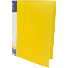 Папка-усы Economix CLIP A Light A4 пластиковая с 2 карманами желтая (1) (20) (120) №E31207-05