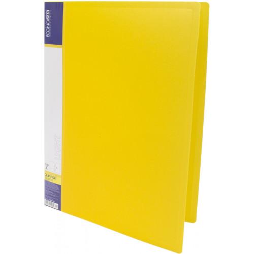 Папка-вуса Economix CLIP A Light A4 пластикова з 2 кишенями жовта (1) (20) (120) №E31207-05
