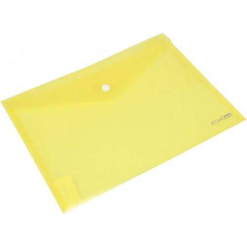 Папка-конверт Economix B5+ на кнопці жовта (12) (180)  E31302-05