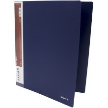 Папка на 4-х кольцах Axent А4 d-35 мм синяя (1) (10) №1208-02