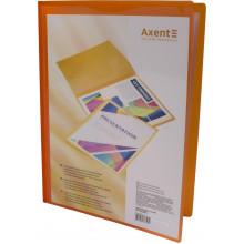 Папка с 20-ю файлами Axent А4 с карманом оранжевая (24) №1020-25-А