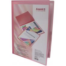 Папка с 20-ю файлами Axent А4 с карманом розовая (24) №1020-24-А
