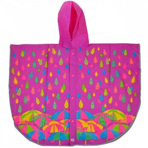 Дождевик-пончо детский YES Яркие зонтики со светоотражающим кантом (1) (50) №706944