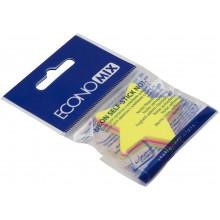 Блок для заміток з липким шаром 45 х50 мм 80 аркушів неоновий мікс Economix Зірка (12) Е20955