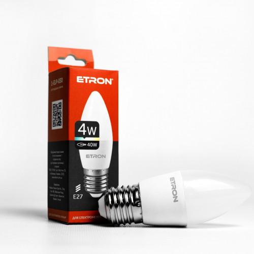 Лампа Etron Light Power LED 1-ELP-030 C37 4Вт 4200K E27 (10)