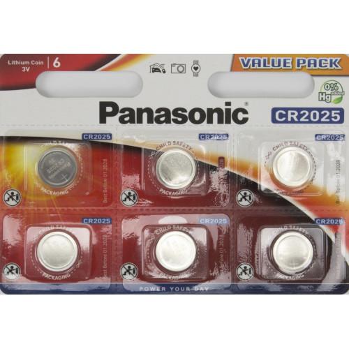 Батарейка Panasonic CR2025/6bl lithium (6) (60)