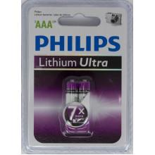 Батарейки Philips Ultra LR-03/блистер 2 штуки (12)