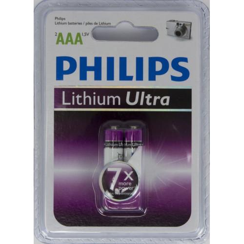 Батарейки Philips Ultra LR-03 блістер 2 шт (12)