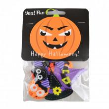 "Набор декоративных наклеек из фетра для Хэллоуина ""Yes"" 12 шт №973271 (6) №1"