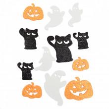 """Набор декоративных наклеек с глиттером для Хэллоуина """"Yes"""" 12 шт №973535 (1) (6) №5"""
