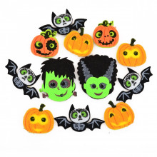 "Набор декоративных наклеек из фетра для Хэллоуина ""Yes"" 12 шт №973536 (1) (6) №4"