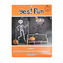"""Набор для декорирования помещения к Хэллоуину """"Yes"""" Скелет (1) (6) №973531"""