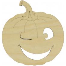 Тыква на Хэллоуин ассорти 10 см фанера