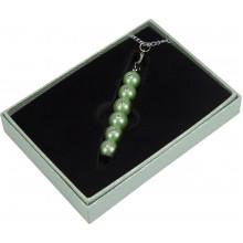 Ручка шариковая Langres Secret с кристаллами зеленая в подарочном футляре №401021-04