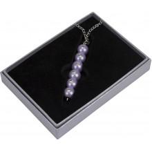 Ручка шариковая Langres Secret с кристаллами, фиолетовая, в подарочном футляре №401021-07