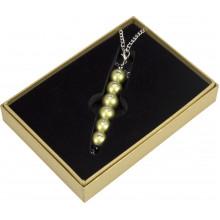 Ручка шариковая Langres Secret с кристаллами, золото, в подарочном футляре №401021-23