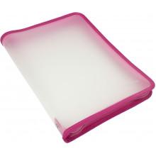 Папка на молнии пластиковая Economix A4 розовая (30) №E31644-09