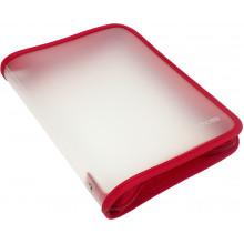 Папка на молнии пластиковая Economix B5 красная (20) №E31645-03