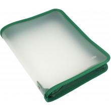 Папка на молнии пластиковая Economix B5 зеленая (20) №E31645-04